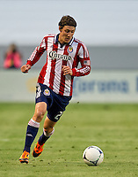 CARSON, CA - June 16, 2012: Chivas USA midfielder Ben Zemanski (21) during the Chivas USA vs Real Salt Lake match at the Home Depot Center in Carson, California. Final score Real Salt Lake 3, Chivas USA 0.