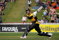 Finn Allen hits a six during the men's Dream11 Super Smash cricket match between the Wellington Firebirds and Auckland Aces at Basin Reserve in Wellington, New Zealand on Thursday , 24 December 2020. Photo: Dave Lintott / lintottphoto.co.nz