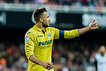 Mario Gaspar Perez Martinez of Villarreal CF gestures during the La Liga 2017-18 match between Valencia CF and Villarreal CF at Estadio de Mestalla on 23 December 2017 in Valencia, Spain. Photo by Maria Jose Segovia Carmona / Power Sport Images