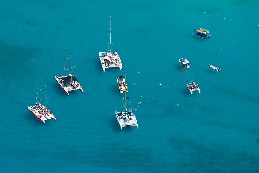 Boats at anchor, Carlisle Bay, Barbados
