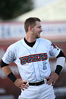 Taylor Ward (6) of the Inland Empire 66ers before a game against the Modesto Nuts at San Manuel Stadium on June 2, 2017 in San Bernardino, California. Inland Empire defeated Modesto, 7-2. (Larry Goren/Four Seam Images)
