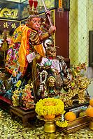 Bangkok, Thailand.  Monkey King Shrine, Chinatown.