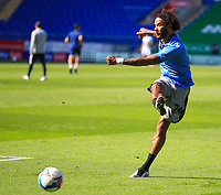12th September 2020; Cardiff City Stadium, Cardiff, Glamorgan, Wales; English Championship Football, Cardiff City versus Sheffield Wednesday; Isaiah Brown of Sheffield Wednesday warms up before the match