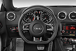 Steering wheel view of a 2010 Audi TTS Coupe