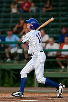 May 7 2010: Ryan Flaherty (11)  of the Daytona Cubs during a game vs. the Clearwater Threshers at Jackie Robinson Ballpark in Daytona Beach, Florida. Daytona, the Florida State League High-A affiliate of the Chicago Cubs, lost the game against Clearwater, affiliate of the Philadelphia Phillies, by the score of 8-3.  Photo By Scott Jontes/Four Seam Images