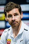 Shanghai SIPG FC head coach Andre Villas-Boas reacts during Pre-Match Press Conference and Training Session prior to the AFC Champions League 2017 Quarter-Finals match between Shanghai SIPG (CHN) and Guangzhou Evergrande (CHN) at the Shanghai Stadium on 20 August 2017 in Shanghai, China. Photo by Yu Chun Christopher Wong / Power Sport Images