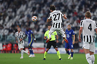 29th September 2021; Turin, Italy;   Manuel Locatelli of Juventus Fc controls the ball during the Uefa Champions League;  Group H match between Juventus Fc and Chelsea Fc at Allianz Stadium