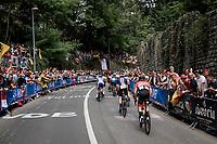 huge crowds up the Keizersberg<br /> <br /> Elite Men World Championships - Road Race<br /> from Antwerp to Leuven (268.3km)<br /> <br /> UCI Road World Championships - Flanders Belgium 2021<br /> <br /> ©kramon