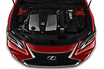 Car Stock 2020 Lexus ES-350 F-Sport 4 Door Sedan Engine  high angle detail view