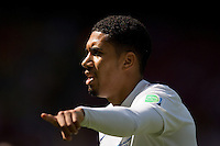 Chris Smalling of England pointing