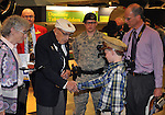 The two surviving member of the the Doolittle Tokyo Raiders met at the National Museum of the United States Air Force on April 18, 2015, the 73rd anniversary of the first offensive raid against the Japanese in World War II, to receive a Congressional Gold Medal on behalf of all of the Raiders. The medal was turned over the the AF Museum to be be placed on display with other Raider memoribilia, including the silver goblets that for decades have denoted which Raiders were living and which had passed away.
