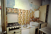Unfit kitchen in a privately rented house in multiple occupation in Haringey, North London.
