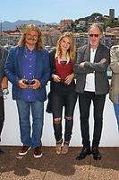 Leslie MANDOKI, Lara MANDOKI et John HELLIWELL en photocall lors du MIDEM 2017 à Cannes, Palais des Festivals et des Congres, Cannes, Sud de la France, mercredi 7 juin 2017. Philippe FARJON / VISUAL Press Agency