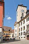 Germany, Bavaria, Upper Palatinate, Regensburg: Townhall Square with Old Townhall and Reichssaal