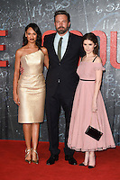 """Cynthia Addai-Robinson, Ben Affleck and Anna Kendrick<br /> at the premiere of """"The Accountant"""" at the Empire Leicester Square, London.<br /> <br /> <br /> ©Ash Knotek  D3183  17/10/2016"""
