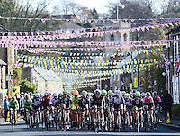 Picture by Alex Broadway/SWpix.com - 30/04/2016 - Cycling - 2016 Asda Women's Tour de Yorkshire: Otley to Doncaster - Yorkshire, England - The peloton makes it way through Thorner in Yorkshire.