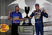 Monster Energy NASCAR Cup Series<br /> Bass Pro Shops NRA Night Race<br /> Bristol Motor Speedway, Bristol, TN USA<br /> Saturday 19 August 2017<br /> Kyle Busch, Joe Gibbs Racing, M&M's Caramel Toyota Camry Victory Lane<br /> World Copyright: Nigel Kinrade<br /> LAT Images