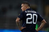 ORLANDO, FL - JULY 20: David Guzman #20 of Costa Rica waits for the free kick during a game between Costa Rica and Jamaica at Exploria Stadium on July 20, 2021 in Orlando, Florida.