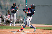 Cleveland Indians shortstop Aaron Bracho (10) during a Minor League Spring Training game against the San Francisco Giants at the San Francisco Giants Training Complex on March 14, 2018 in Scottsdale, Arizona. (Zachary Lucy/Four Seam Images)