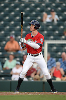 Fort Myers Miracle outfielder Max Kepler (20) at bat during a game against the Tampa Yankees on April 15, 2015 at Hammond Stadium in Fort Myers, Florida.  Tampa defeated Fort Myers 3-1 in eleven innings.  (Mike Janes/Four Seam Images)