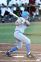 Cody Regis #18 of the UCLA Bruins plays against the Arizona State Sun Devils on May 27, 2011 at Packard Stadium, Arizona State University, in Tempe, Arizona. .Photo by:  Bill Mitchell/Four Seam Images.
