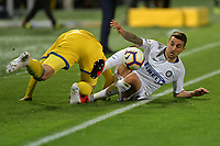 Luca Valzania of Frosinone and Matias Vecino of Internazionale compete for the ball during the Serie A 2018/2019 football match between Frosinone and FC Internazionale at stadio Benito Stirpe, Frosinone, April 14, 2019 <br /> Photo Andrea Staccioli / Insidefoto