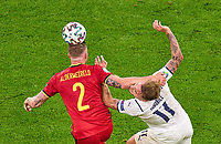 2nd July 2021; Allianz Arena, Munich, Germany; European Football Championships, Euro 2020 quarterfinals, Belgium versus Italy;  <br /> Toby ALDERWEIRELD, Belgium  competes for the ball against Ciro Immobile, ITA