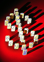 Dollar sign in dominoes