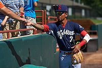 Reading Fightin Phils shortstop J.P. Crawford (2) signs autographs before a game against the Bowie Baysox on July 22, 2015 at Prince George's Stadium in Bowie, Maryland.  Bowie defeated Reading 6-4.  (Mike Janes/Four Seam Images)