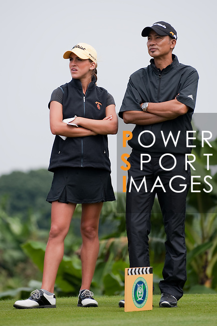 Hong Kong actor Simon Yam & friends during the Mission Hills Start Trophy in Hainan, China. Photo © Victor Fraile / The Power of Sport Images