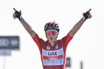 Race leader Tadej Pogacar (SLO) UAE Team Emirates wins Stage 3 of the 2021 UAE Tour running 166km from Al Ain to Jebel Hafeet, Abu Dhabi, UAE. 23rd February 2021.  <br /> Picture: LaPresse/Fabio Ferrari | Cyclefile<br /> <br /> All photos usage must carry mandatory copyright credit (© Cyclefile | LaPresse/Fabio Ferrari)
