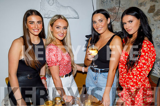 Alannah Freeman, Kate Sheehy, Roisin Donnellin and Michaela Sugrue enjoying the evening in Bella Bia on Friday