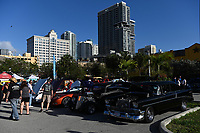 FORT LAUDERDALE FL - FEBRUARY 27: A general view of the 3rd Avenue Take Over Car Show held at Backyard on February 27, 2021 in Fort Lauderdale, Florida. Credit: mpi04/MediaPunch