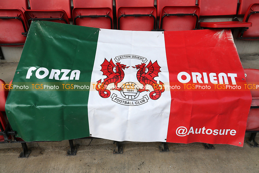 General view of an Orient flag during Leyton Orient vs Port Vale, Sky Bet EFL League 2 Football at The Breyer Group Stadium on 20th February 2021