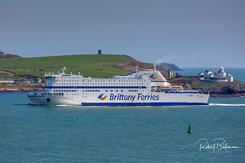 Opening today, Brittany Ferries has begun making available reservations for the 2022 season. Above AFLOAT adds the cruiseferry Armorique sailing last week from Ringaskiddy, Cork Harbour.
