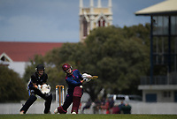 Action from the Hazlett Trophy Wellington premier men's division one cricket match between Petone-Riverside and Eastern Suburbs at Petone Recreation Ground in Petone, New Zealand on Saturday, 19 December 2020. Photo: Dave Lintott / lintottphoto.co.nz