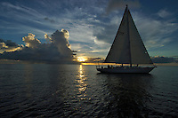 Sailing the Rock islands, palau Micronesia