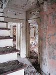 Interior destruction, Admiral's Row, Brooklyn Navy Yard, Brooklyn, New York