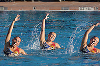 STANFORD, CA - FEBRUARY 7:  (L-R) Olivia Morgan, Maria Koroleva, and Taylor Durand of the Stanford Cardinal during Stanford's 88-78 win against the Incarnate Word Cardinals on February 7, 2009 at Avery Aquatic Center in Stanford, California.