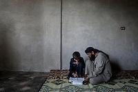 SYRIA: CHILDREN ATTEND SCHOOL AMID WAR (2013)