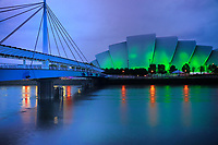 SCO - SCOTLAND<br /> GLASGOW Bell's Bridge and Clyde Auditorium Amardillo on the Clyde Waterfront<br /> <br /> Full size: 69,2 MB