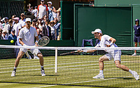 London, England, 4 July, 2019, Tennis,  Wimbledon, Mens doubles: Marcus Daniell (NZL) and Wesley Koolhof (NED) (R)<br /> Photo: Henk Koster/tennisimages.com