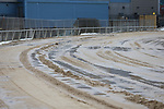 February 21, 2021: Scenery during the Oaklawn snow cleanup at Oaklawn Racing Casino Resort in Hot Springs, Arkansas. ©Justin Manning/Eclipse Sportswire/CSM
