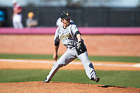Kennesaw State Owls relief pitcher Brock Turner (25) in action against the Winthrop Eagles at the Winthrop Ballpark on March 15, 2015 in Rock Hill, South Carolina.  The Eagles defeated the Owls 11-4.  (Brian Westerholt/Four Seam Images)