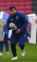 1st January 2021; Ashton Gate Stadium, Bristol, England; Premiership Rugby Union, Bristol Bears versus Newcastle Falcons; Nathan Hughes of Bristol Bears warms up
