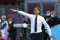 Filippo Inzaghi coach of Benevento Calcio gestures<br /> during the Serie A football match between Benevento Calcio and SSC Napoli at stadio Ciro Vigorito in Benevento (Italy), October 25th, 2020. <br /> Photo Cesare Purini / Insidefoto