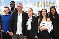 MAMADOU DOUMBIA, MATTHIEU LUCCI, DIRECTOR LAURENT CANTET, MARINA FOIS, WARDA RAMMACH AND MELISSA GUILBERT - PHOTOCALL OF THE FILM 'L'ATELIER' AT THE 70TH FESTIVAL OF CANNES 2017