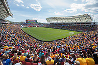 Sandy, UT - Saturday April 14, 2018: Rio Tinto Stadium during a regular season National Women's Soccer League (NWSL) match between the Utah Royals FC and the Chicago Red Stars at Rio Tinto Stadium.