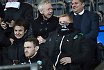 St Johnstone v Hibs…16.03.18…  McDiarmid Park    SPFL<br />Neil Lennon hides his face whilst sat in the stands<br />Picture by Graeme Hart. <br />Copyright Perthshire Picture Agency<br />Tel: 01738 623350  Mobile: 07990 594431
