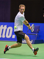 December 18, 2014, Rotterdam, Topsport Centrum, Lotto NK Tennis, Men's singles quarter final, Matwé Middelkoop (NED)<br /> Photo: Tennisimages/Henk Koster